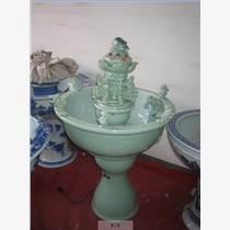 供應陶瓷魚缸噴泉流水盆景加濕器魚缸風水擺設創意陶瓷魚缸噴泉落地缸