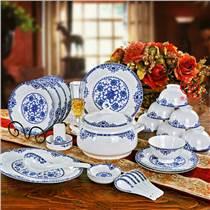 合元堂商务礼品陶瓷餐具,58头粉彩餐具