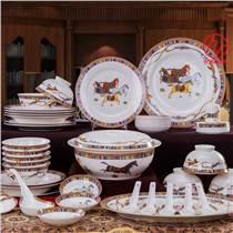 陶瓷餐具兩碗兩勺套裝訂制,房地產開盤禮品批發