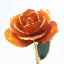 黛雅母親節精選禮物 鍍金玫瑰花橘黃色批發