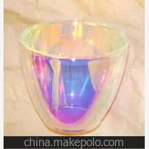 供应镀膜玻璃管,镀七彩玻璃片,反光碗