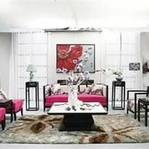 新中式沙發 個性印畫沙發