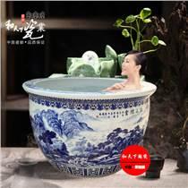 泡澡缸 溫泉洗浴養生中心專用 極樂泡澡陶瓷缸 1.1米洗浴缸廠家