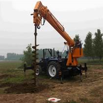 拖拉機吊車電線桿立桿挖坑一體機