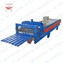 链条传动高功率1100偏弧琉璃瓦液压剪切变频定尺自动化生产机械设备