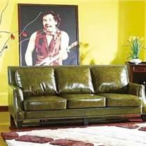 美式咖啡廳沙發桌椅組合 實木 中西餐廳沙發 雙人卡座沙發組合