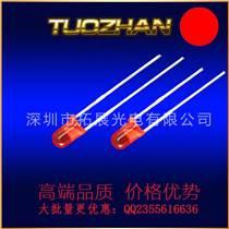 廠家直供LED燈珠含燈座3mm單色紅光2腳3mm單色帶燈座單孔黑色
