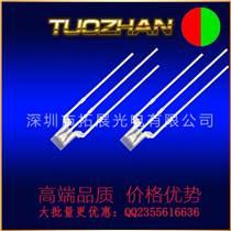 LED发光二极管带灯座3mm红黄绿圆头无边短脚高亮3
