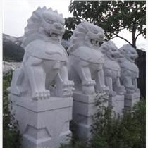 祠堂擺件石材獅子 花崗巖石材柱墩 花崗巖石材涼亭子