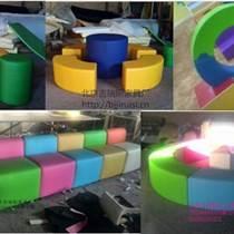 早教中心幼儿园软体长条凳沙发椅软包围栏儿童沙发凳组合