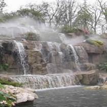 上海鹤石设计施工瀑布假山 制作图片