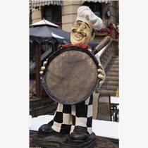 番禺玻璃鋼雕塑廚師雕像零售哪家好
