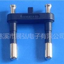 VDE欧洲电源线二插 正标国标欧洲头端子 欧式两圆插头内支架