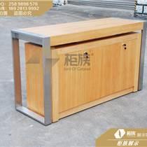 蘋果手機開放式展示木質靠墻邊桌