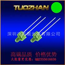 LED发光二极管3mm绿发绿带灯座高亮带3孔3灯已切脚