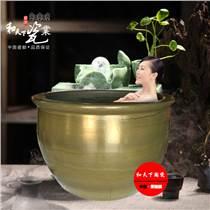 景德鎮做的陶瓷大缸 休閑山莊洗浴缸 陶瓷洗浴大缸水波紋洗浴大缸