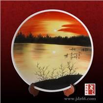 手繪大瓷盤價格 商務送客戶瓷盤 校慶紀念盤定做