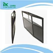 鋁合金折疊展柜定制 高檔珠寶精品折疊柜 黑色精品玻璃折疊柜