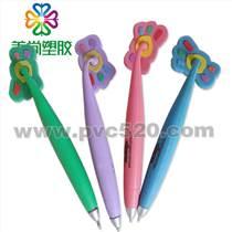 磁性筆 橡膠筆 PVC圓珠筆 卡通PVC軟膠筆