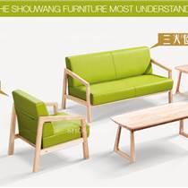 首望辦公家具現代簡約貴賓接待會客洽談日式皮沙發休閑商務沙發