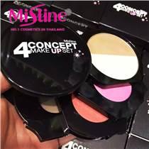 泰國Mistine四合一彩妝盤 高光粉色腮紅橘色腮紅眼影 防水防暈染
