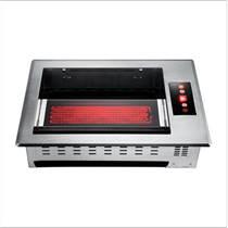 韓式遠紅外線方形燒烤爐鑲嵌式電燒烤爐上排煙商用烤肉爐