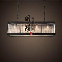 明璞新中式布藝吊燈   走廊現代中式鐵藝吊燈批發廠家
