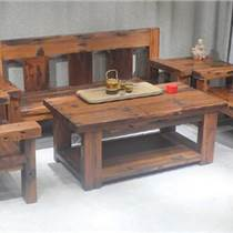 老船木沙發船木沙發組合辦公室實木三人沙發明清古典簡約客廳家具