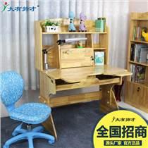 實木兒童學習桌 家用中小學生書桌課桌寫字臺
