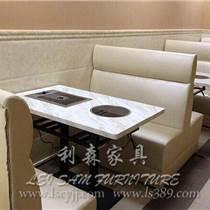 深圳人造大理石餐桌 火锅烧烤一体桌 深圳火锅家具
