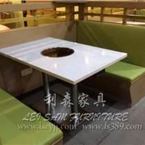 坪山火锅桌厂家生产 防火板火锅桌 连锁店火锅桌椅 烧烤桌电磁炉桌