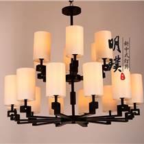 全銅新中式吊燈餐廳新中式吊燈全銅新中式燈具廠家