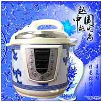 雙喜青花瓷電壓力鍋 多功能微電腦式低壓鍋