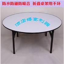 批發酒店宴會圓桌 飯店折疊餐桌婚宴廳包間圓桌PVC組合桌子定做