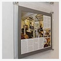 上海亚克力画框定做双面透明广告框挂墙展示框电梯广告框