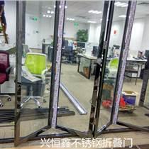 深圳專業制作各種玻璃門折疊門黑鈦金玻璃門感應玻璃門