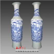 1米8 工筆畫 墨彩瓷大展宏圖大花瓶