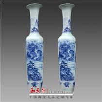 景德镇青花瓷陶瓷大花瓶落地 客厅酒店陶瓷工艺品摆件赏瓶可定制