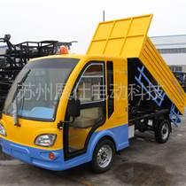 南通四轮装桶运输车 小区垃圾车 电动保洁车报价