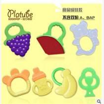 廠家批發牙膠嬰兒咬膠水果硅膠磨牙棒寶寶固齒訓練器 嬰兒玩具