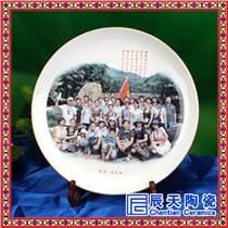结婚贺礼陶瓷纪念盘厂家 校庆礼品陶瓷赏盘订制 大瓷盘 土与火的千年艺术