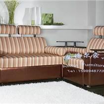 安福尔家具厂ZJ-046豪华大气转角沙发用料上真皮布艺搭配