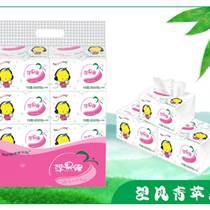 四川竹漿紙代理招商蘋果緣350張雕花面巾紙