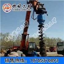 挖機上的螺旋鉆機 螺旋挖坑機 螺旋地樁鉆機