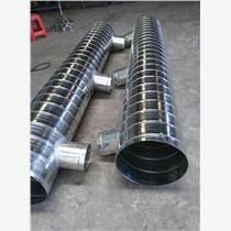佛山江大鍍鋅螺旋風管配件(順水三通、四通管件)加工廠家