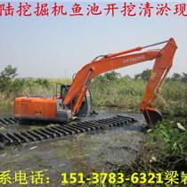 湿地挖掘机租赁 水上挖掘机出租