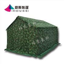 北京豪斯施工帳篷防雨水野戶外軍工程工地民用救災養蜂帆布棉帳篷
