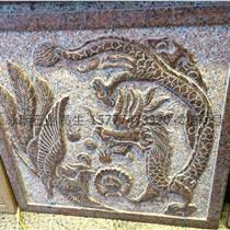楓葉紅花崗巖石材雕刻板石材批發