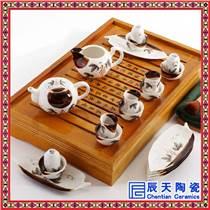 婚庆送礼茶具 精品陶瓷茶具 活动礼品茶具