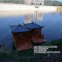 廠家直銷殿寶電動旅游觀光船 畫舫游船 手劃船 西湖游船 景點裝飾船